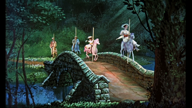 Mary Poppins Horses on Bridge